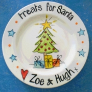Handpainted Plate - Santa's Treats